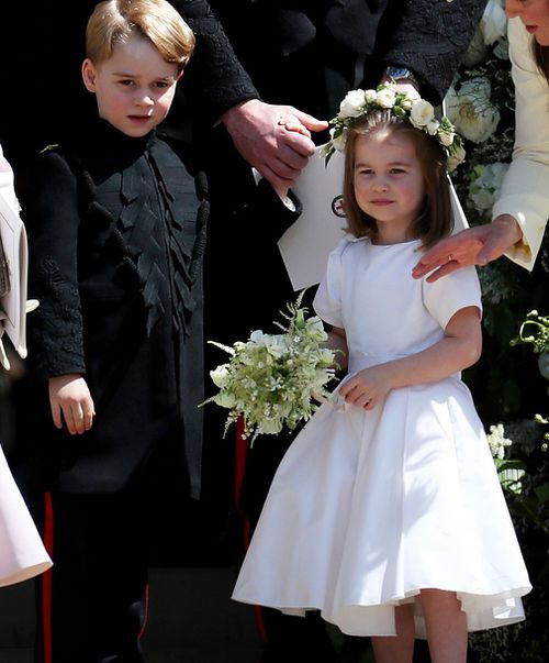 Prince George and Princess Charlotte are page boy and bridesmaid.