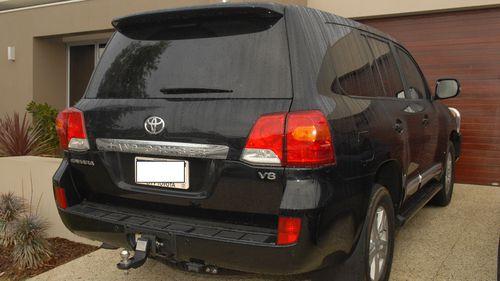 The 2015 black Toyota LandCruiser.