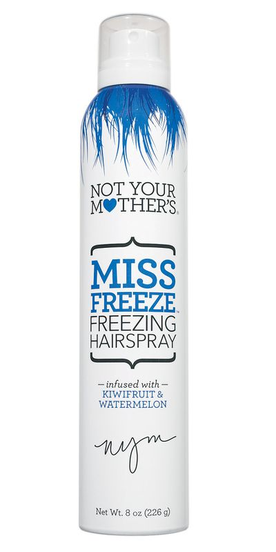 """<a href=""""https://www.priceline.com.au/not-your-mother-s-miss-freeze-freezing-hairspray-226-g"""" target=""""_blank"""" draggable=""""false"""">Not Your Mother's Miss Freeze Freezing Hairspray, $16.95.</a>"""