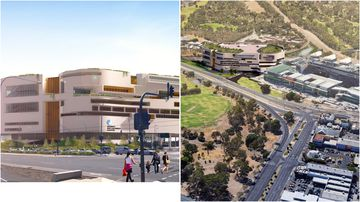 The new hospital site is set to go up next to the Royal Adelaide Hospital.