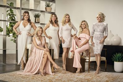 Real Housewives of Orange County Season 14 cast Season 14 cast (from left to right): Emily Simpson, Braunwyn Windham-Burke, Kelly Dodd, Shannon Storms Beador, Tamra Judge and Gina Kirschenheiter.