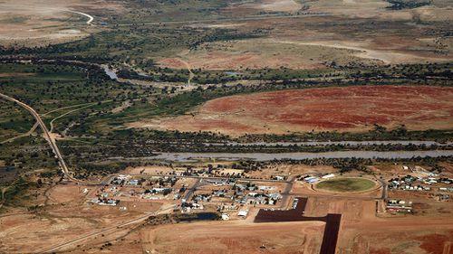 An aerial view of Birdsville. (AAP)
