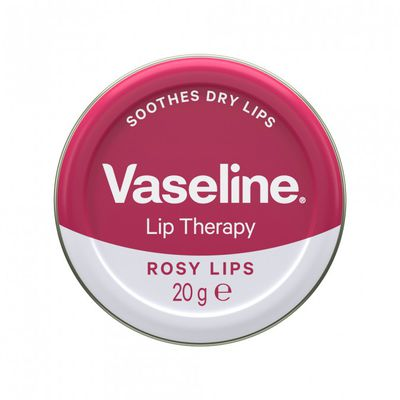 """<p><a href=""""https://www.priceline.com.au/brand/vaseline/vaseline-lip-balm-tin-rosy-lips-20-g"""" target=""""_blank"""" title=""""Vaseline Lip Balm Tin Rosy Lips 20G, $4.99"""" draggable=""""false"""">Vaseline Lip Balm Tin Rosy Lips 20G, $4.99</a></p> <p>The only lip product you need to stash away in your handbag on a warm Spring day.</p>"""