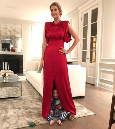 Ivanka Trump at her home in Washington with son, Joseph, December, 2017