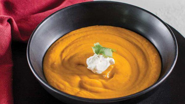 Spicy pumpkin soup