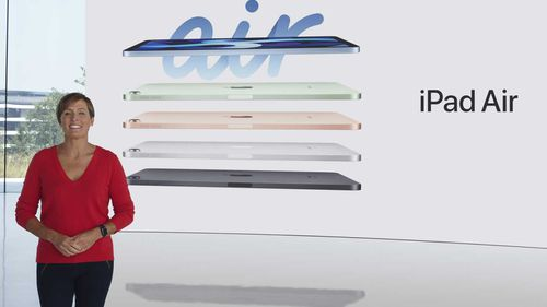 Laura Legros, Apple's vice president of hardware engineering, unveils the all-new iPad Air.