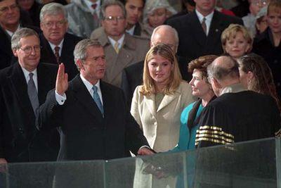 George W Bush sworn in as 43rd US president