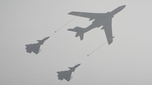 Airplanes of the People's Liberation Army are pictured during a 2019 military parade in Tiananmen Square, Beijing.