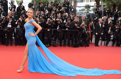 Blake Lively in Atelier Versace at the <em>The BFG </em> premiere at the 69th annual Cannes Film Festival in May, 2016