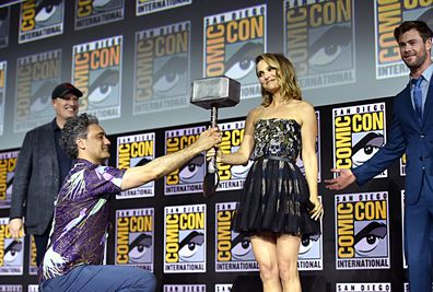 Kevin Feige, Chris Hemsworth, Taika Waititi, Natalie Portman, Comic-Con, San Diego