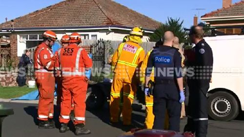 Man dies in brick fence collapse outside Geelong home