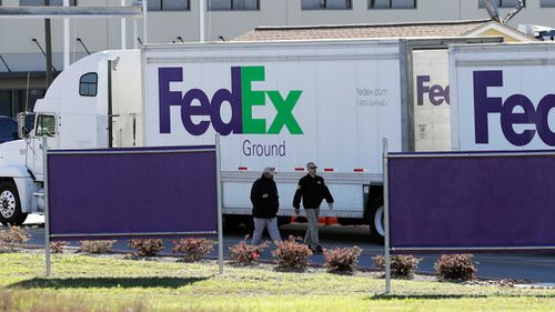 A second package was found at the FedEx depot. (AP/AAP)