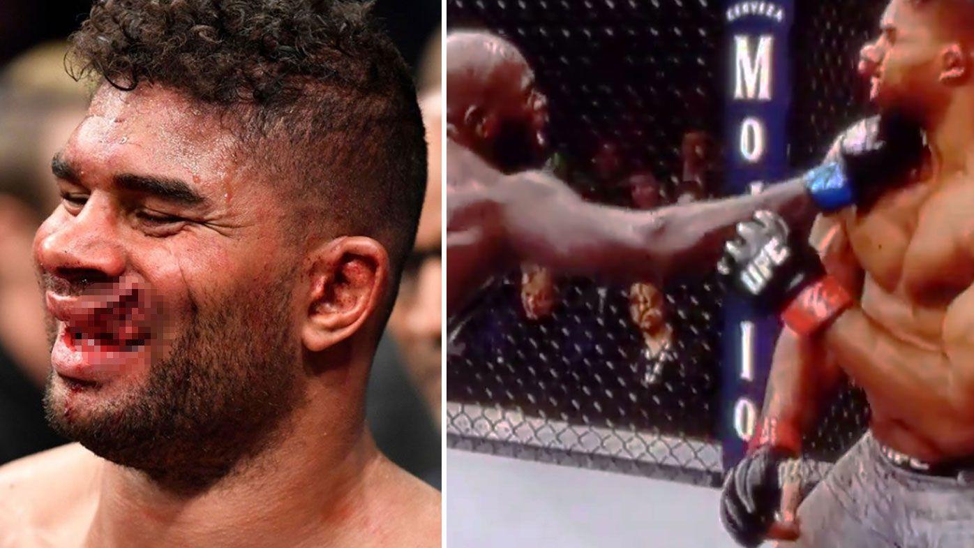 Alistair Overeem's lip explodes in gruesome late knockout to Jairzinho Rozenstruik