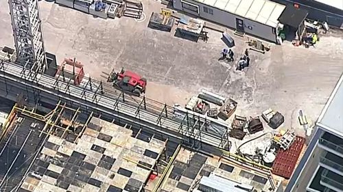 A man has been stabbed at a Sydney construction site.