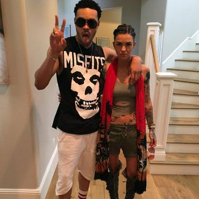 Ruby Rose and rapper Maejor