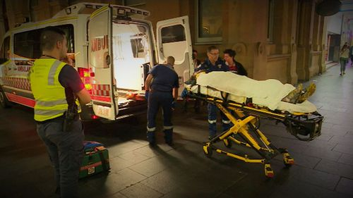 A man is in an induced coma after he was coward punched in Sydney's CBD. (9NEWS)