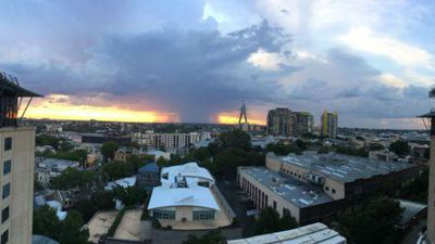 Bradley Quaife in Pyrmont captured the storm rolling in from beyond the Anzac Bridge.