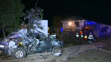 Truck driver does runner after crashing into home