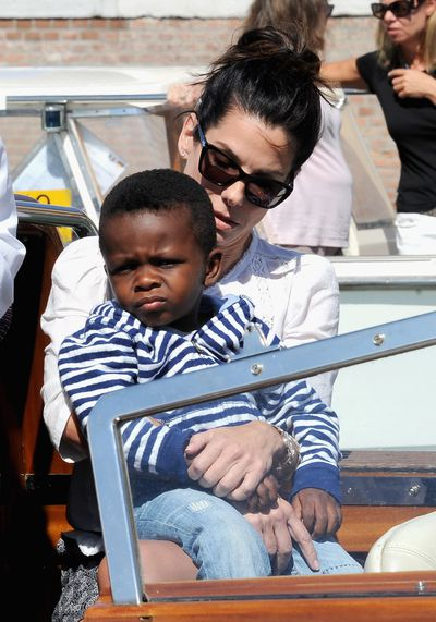 For celebrity mum Sandra Bullock, it's never too early for your child to appreciate good art. The actress spent $18,000 on an Andy Warhol print for her son Louis.