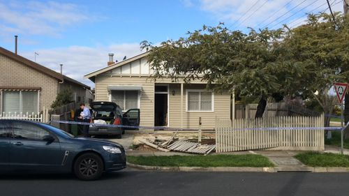 Police searched the First Street, West Footscray, property. (9NEWS)
