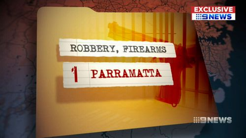 Parramatta topped the list for robbery and firearms offences. (9NEWS)