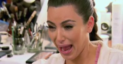 Kim Kardashian's crying face
