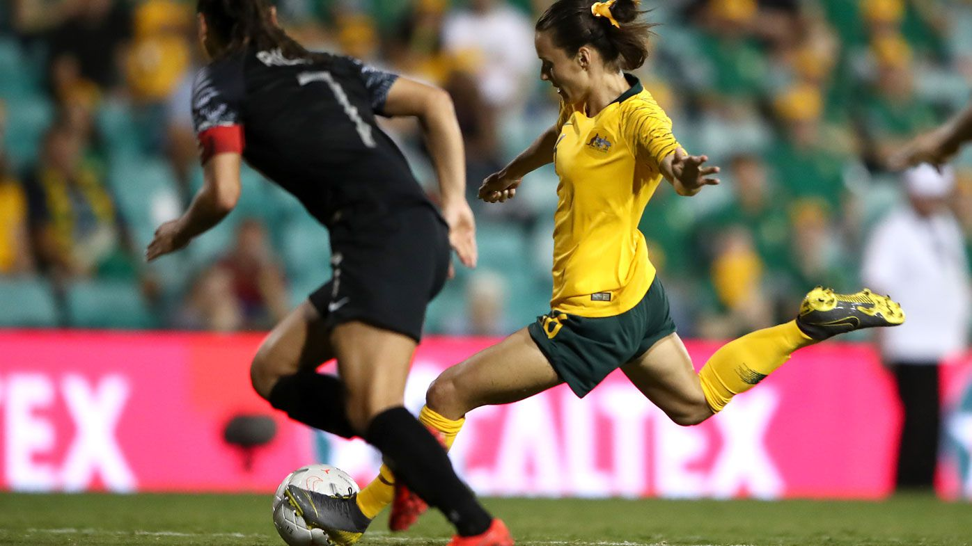 Hayley Raso marks Matildas return with goal