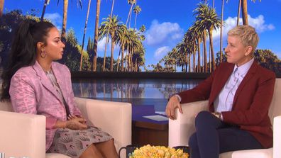 Demi thanked Ellen for giving her the platform to share her story.