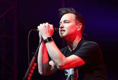 Mark Hoppus during the 2017 NHL All-Star Saturday Night Party at the Event Deck L.A. Live on January 28, 2017 in Los Angeles, California.