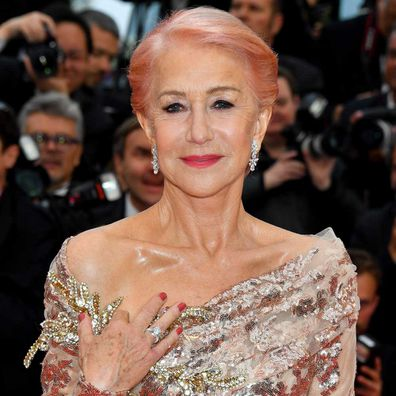 "Dame Helen Mirren attends the screening of ""Les Plus Belles Annees D'Une Vie"" during the 72nd annual Cannes Film Festival."