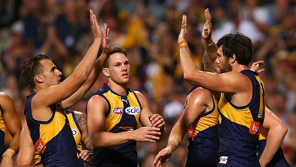 Josh Kennedy kicked three final term goals for the Eagles. (Getty Images)