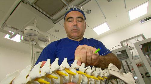 Dr Marc Russo said the device relieves 75 percent of a patient's pain, on average. (9NEWS)