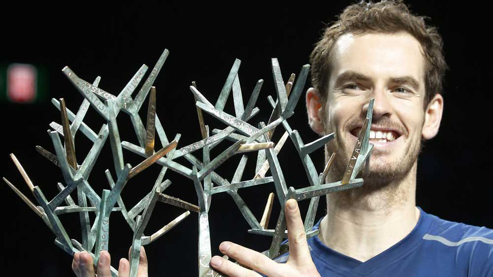 Andy Murray has claimed his maiden Paris Masters. (AAP)