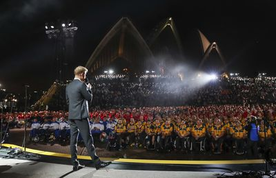 """<em><a href=""""https://www.9news.com.au/2018/10/20/09/24/prince-harry-and-meghan-in-australia-day-five-of-royal-tour"""" target=""""_blank"""" title=""""""""First of all, thank you for the welcome you have given Meghan and I over the last few days. I have been so proud to be able to introduce my wife to you and we have been so happy to be able to celebrate the personal joy of our newest addition with you all."""""""">""""First of all, thank you for the welcome you have given Meghan and I over the last few days. I have been so proud to be able to introduce my wife to you and we have been so happy to be able to celebrate the personal joy of our newest addition with you all.""""</a></em>"""