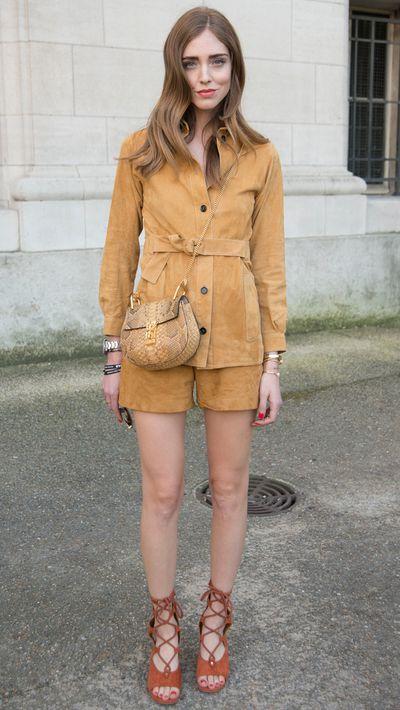 <p>Chiara Ferragni wears aChloé bag.</p>