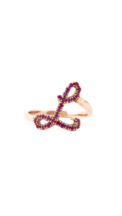 "<p><a href=""http://www.farfetch.com/au/shopping/women/lilou-voight-initial-l-ruby-ring-item-11021725.aspx?storeid=9321&amp;ffref=lp_2_1_"" target=""_blank"">Initial 'L' Ruby Ring, $2,153, Lilou Voight</a></p>"