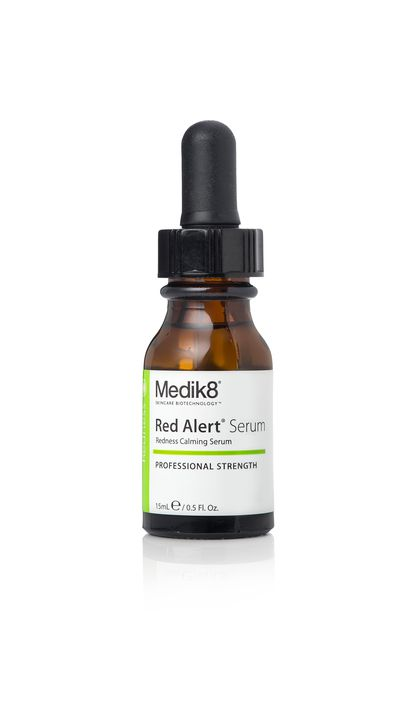 "<a href=""http://www.medik8.com.au/cosmeceuticals/medik8-red-alert-serum/"" target=""_blank"">Red Alert Serum, $71, Medik8</a>"