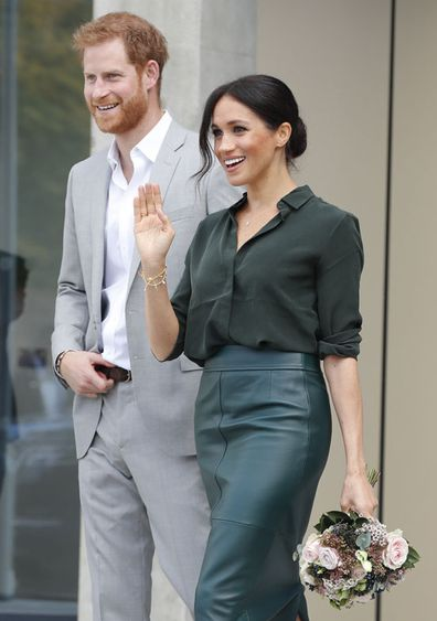Prince Harry and Meghan, the Duchess of Sussex visit the University of Chichester Tech Park, south east England, Wednesday October 3, 2018