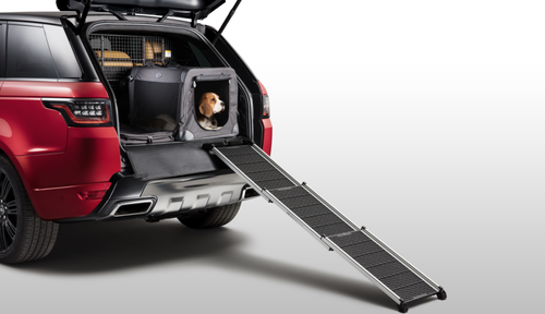Half of all Land Rover owners have a dog, now there is a range of accessories for comfortable travelling for furry friends.