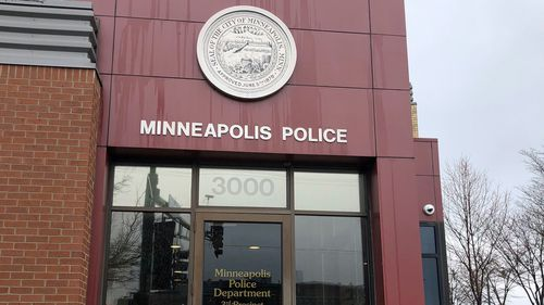 A local police station in Minneapolis. The Minneapolis Police Department fired Noor after he was charged over Justine's death. He is appealing his dismissal.