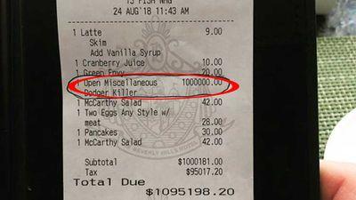 Restaurant's bitter $1 million surcharge
