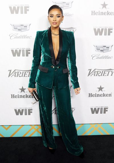 Shay Mitchell attends Variety and Women In Film's 2018 Pre-Emmy celebration.