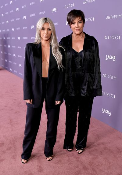Kim Kardashian West and Kris Jenner, both in Gucci, at the 2017 LACMA Art + Film Gala in Los Angeles, November, 2017