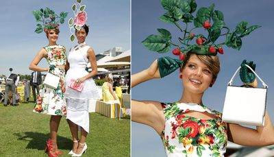 "Ladies pose at Oaks Day, also known as ""Ladies' Day"" (Getty)."