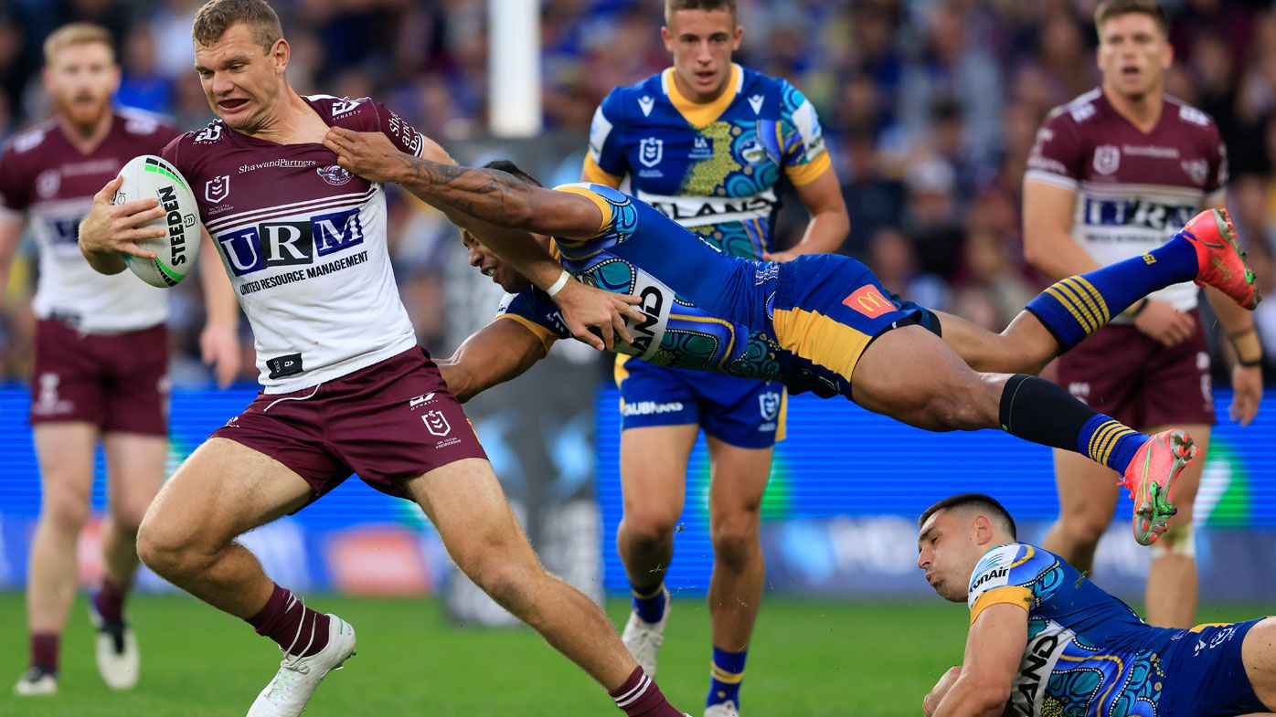 Manly holding off the Eels.