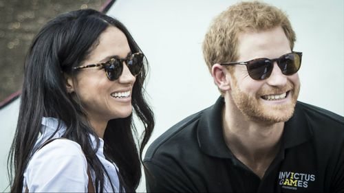 Prince Harry and Megan Markle together.