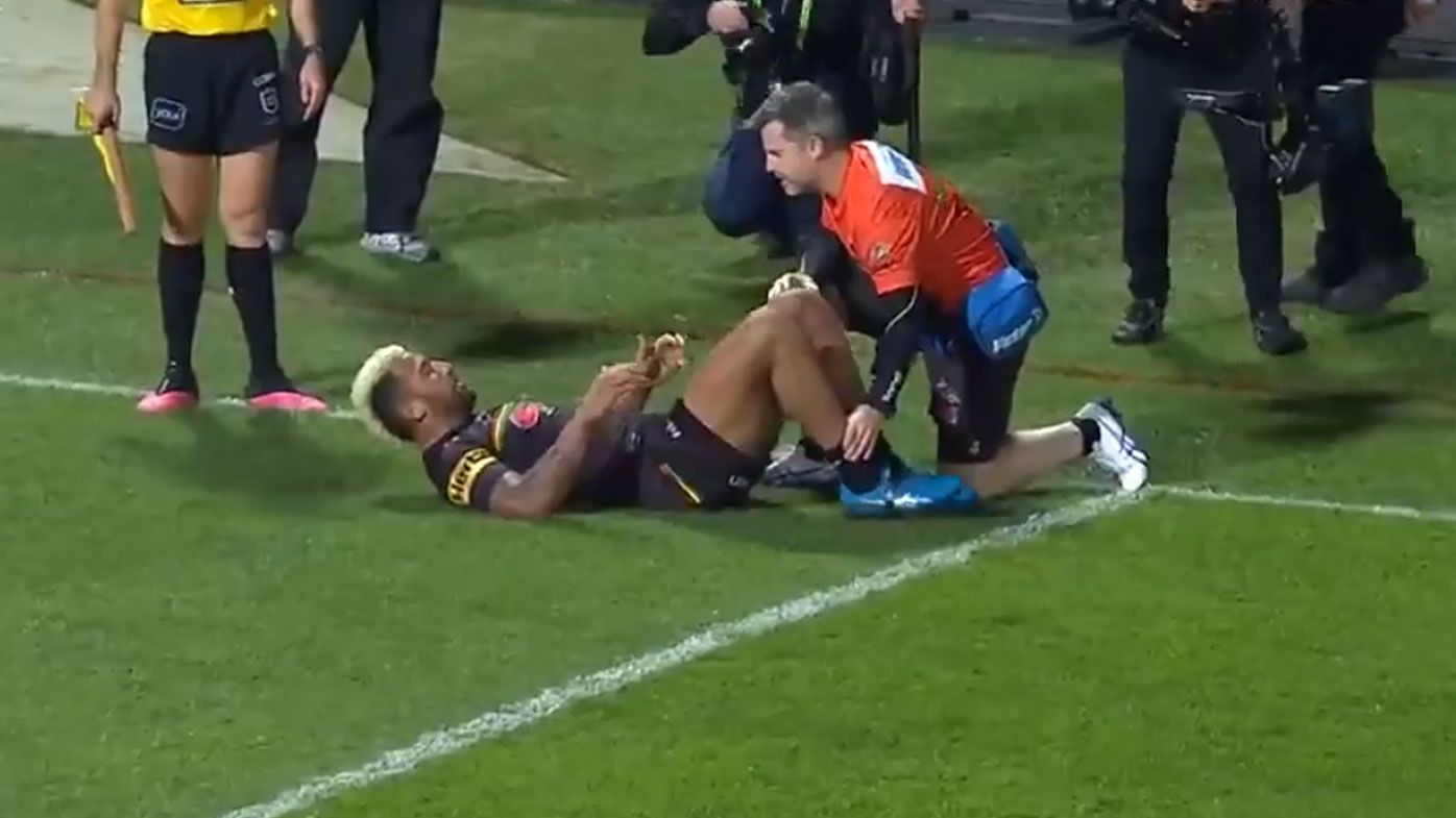 'That should not be allowed': Controversy as referee stops play for minor injury to Penrith's Viliame Kikau