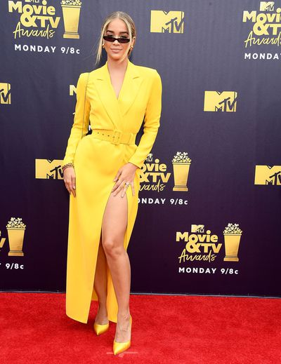 Model Jasmine Sanders at the 2018 MTV Movie and TV Awards