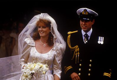 The wedding of Prince Andrew, Duke of York, and Sarah Ferguson at Westminster Abbey, London, UK, 23rd July 1986. (Photo by John Shelley Collection/Avalon/Getty Images)