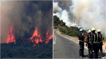 Firefighters are battling several blazes across Spain's Toledo and Madrid provinces.